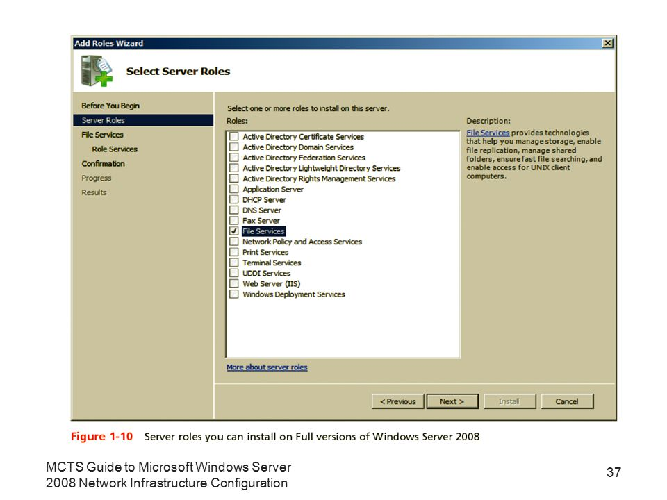 MCTS Guide to Microsoft Windows Server 2008 Network Infrastructure Configuration 37