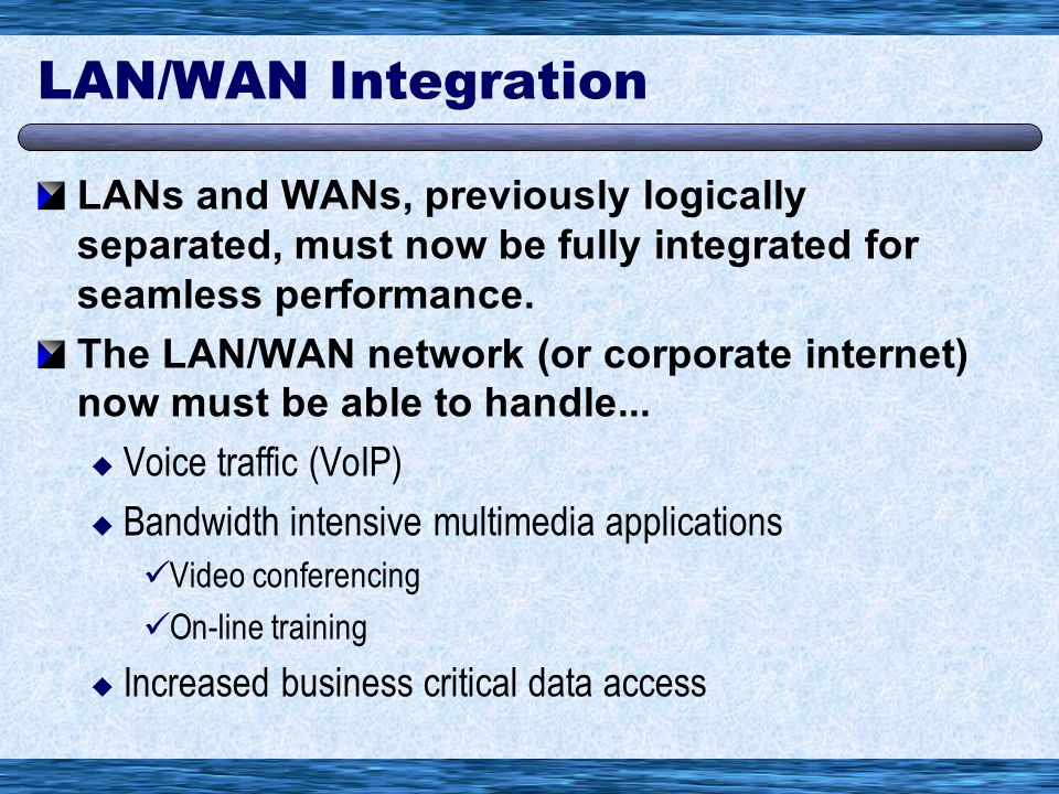 Overriding Goal in WAN Design Minimize Cost While Increasing Network Availability