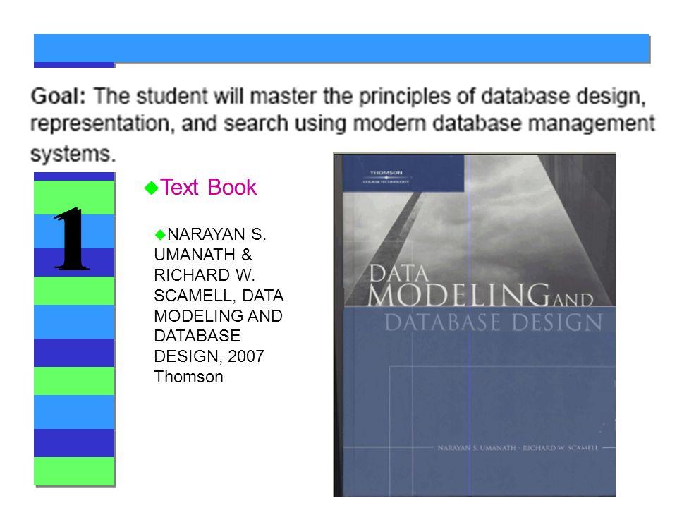 1 1 u Text Book u NARAYAN S. UMANATH & RICHARD W.