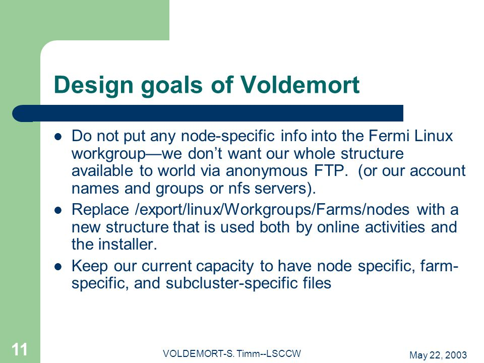 May 22, 2003 VOLDEMORT-S.