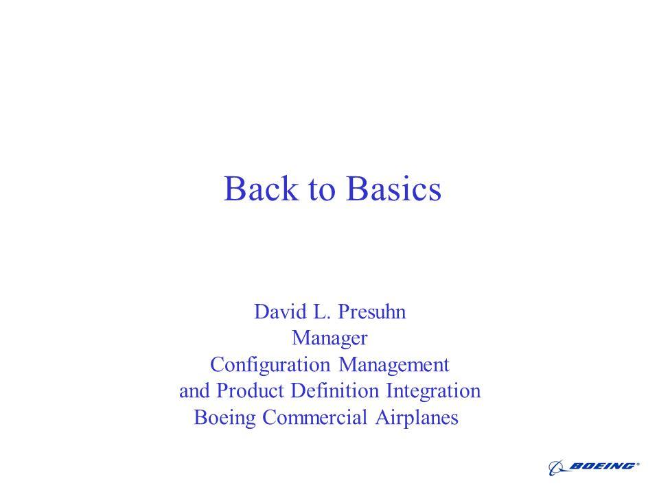 Back to Basics David L.