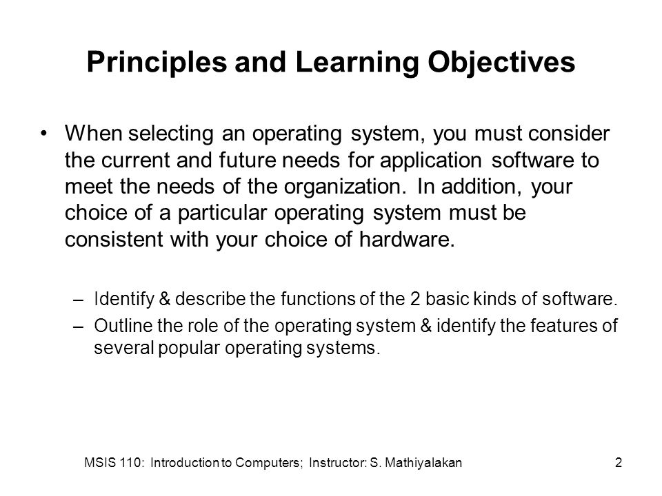 MSIS 110: Introduction to Computers; Instructor: S. Mathiyalakan23 Utility Programs