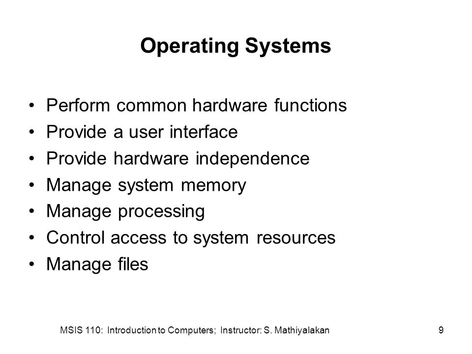 MSIS 110: Introduction to Computers; Instructor: S. Mathiyalakan30 TurboTax