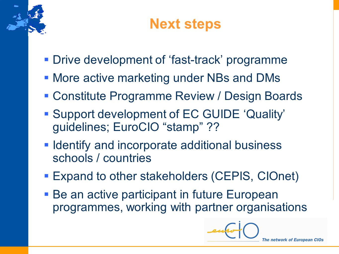  AIM: building the European CISO (Corporate Information Security Officer) program.