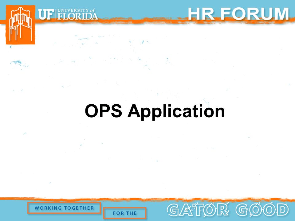 OPS Application