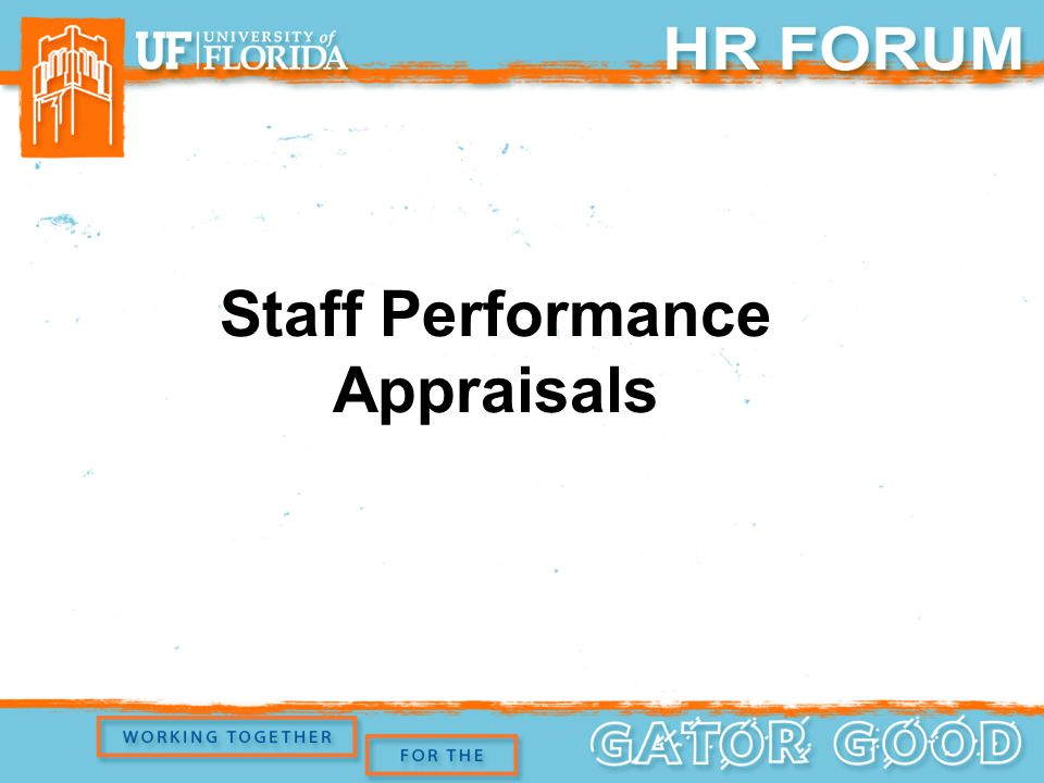 Staff Performance Appraisals