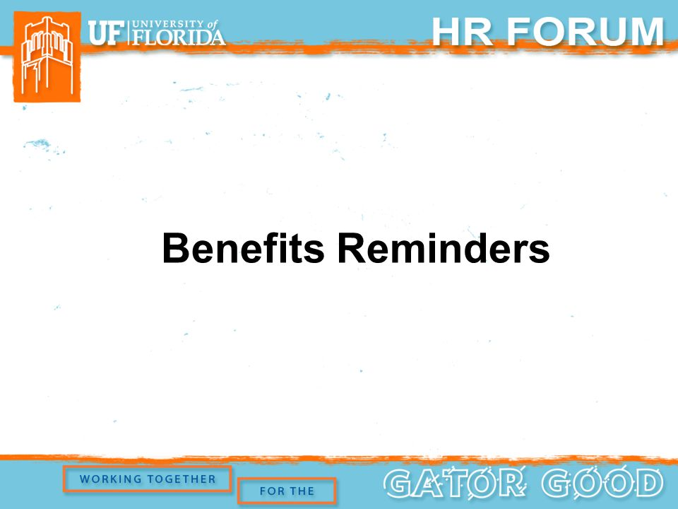 Benefits Reminders