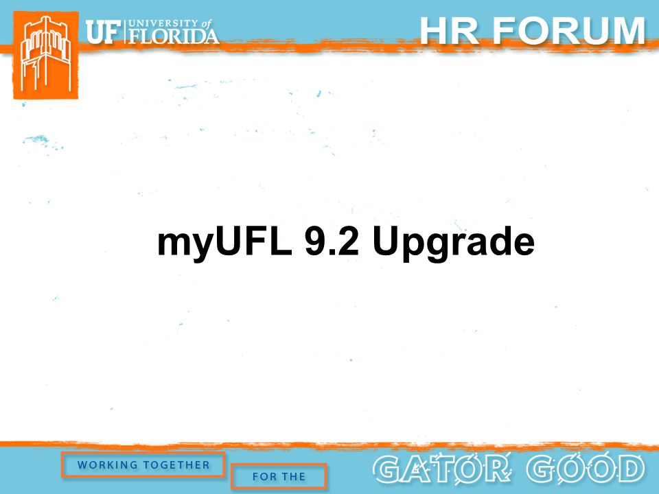 myUFL 9.2 Upgrade