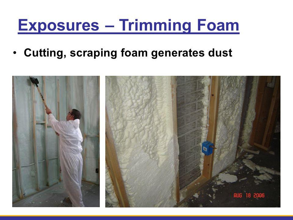Exposures – Trimming Foam Cutting, scraping foam generates dust