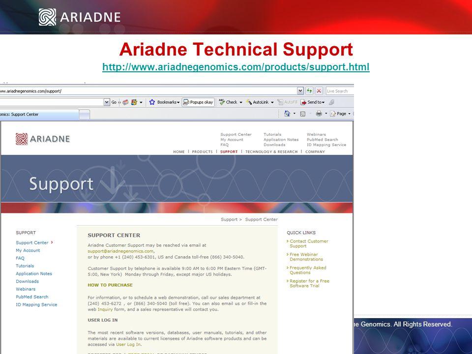©2006 Ariadne Genomics. All Rights Reserved. 32 ©2006 Ariadne Genomics.