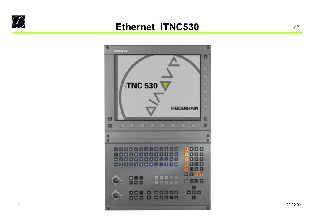 2 AR Ethernet iTNC530 - Configuration Enter Code number NET123 :