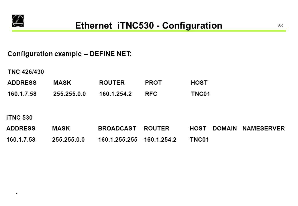 5 AR Ethernet iTNC530 - Configuration