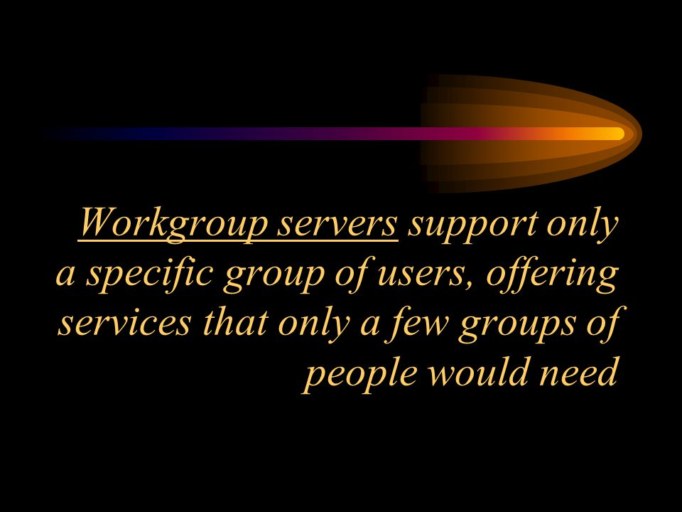 PLACEMENT OF SERVERS: ENTERPRISE - MDF WORKGROUP - IDF
