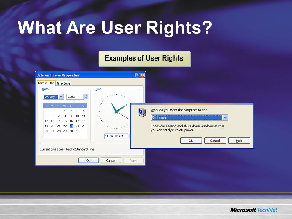 What Are User Rights Examples of User Rights