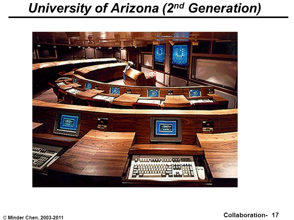 Collaboration- 17 © Minder Chen, 2003-2011 University of Arizona (2 nd Generation)