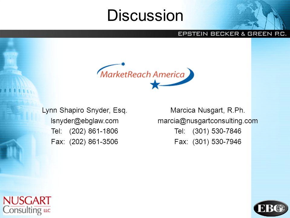 63 Discussion Lynn Shapiro Snyder, Esq.