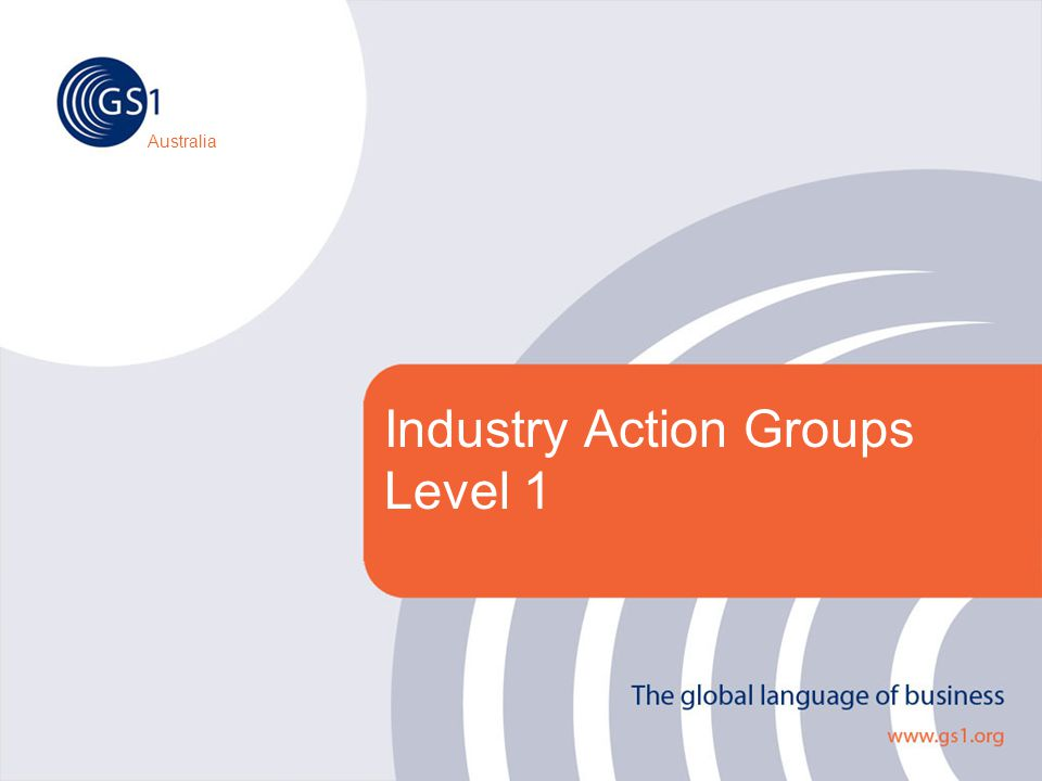 Australia Industry Action Groups Level 1