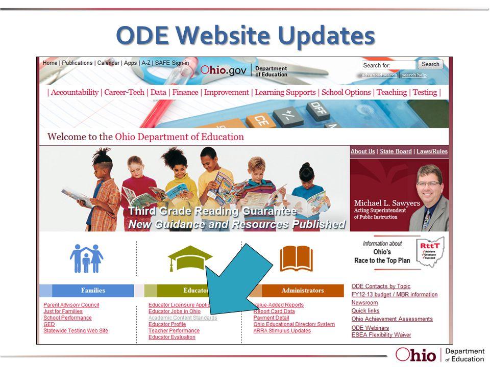 ODE Website Updates