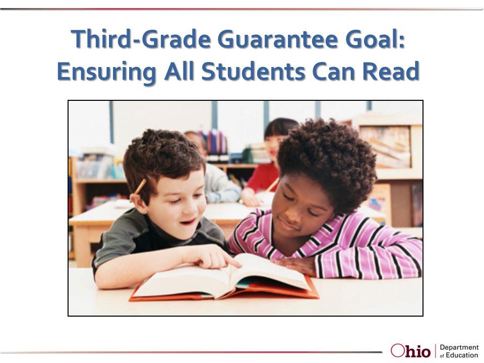 Third-Grade Guarantee Goal: Ensuring All Students Can Read