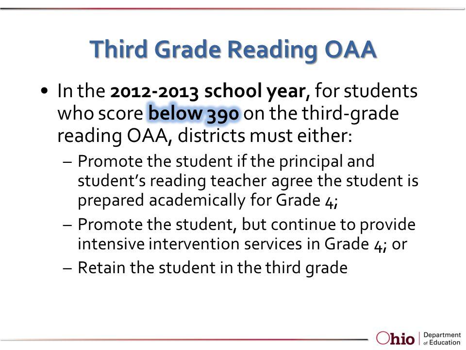 Third Grade Reading OAA