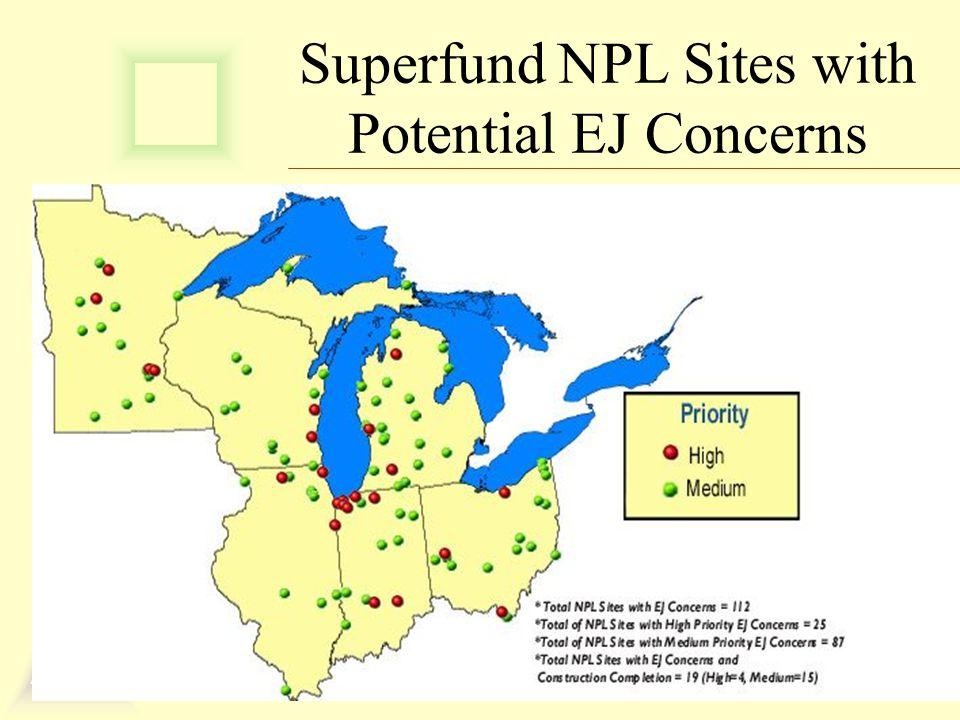 Superfund NPL Sites with Potential EJ Concerns