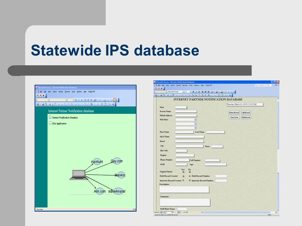 Statewide IPS database