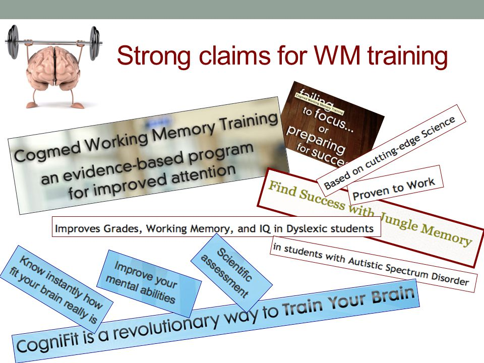 Strong claims for WM training