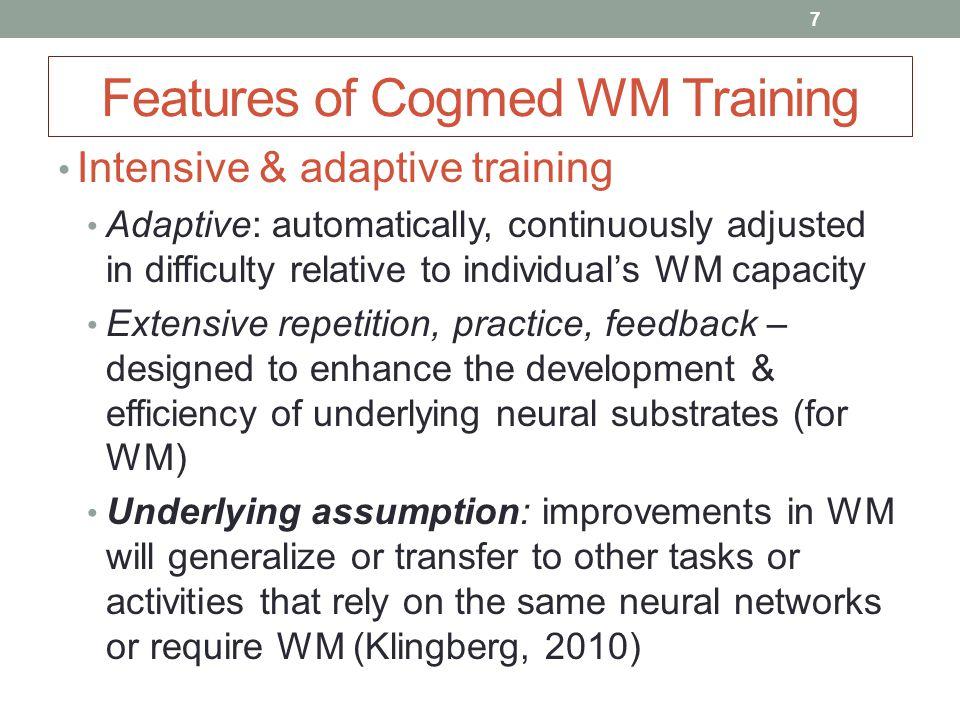 Cogmed WM Training: Reviewing the Reviews Shinaver*, Entwistle*, Söderqvist*.