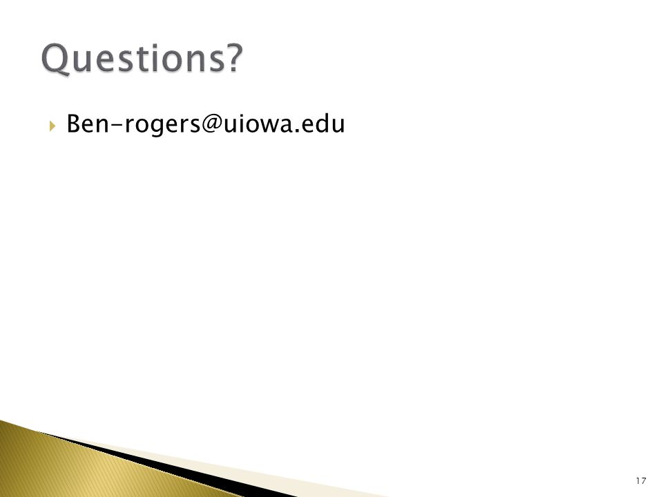  Ben-rogers@uiowa.edu 17