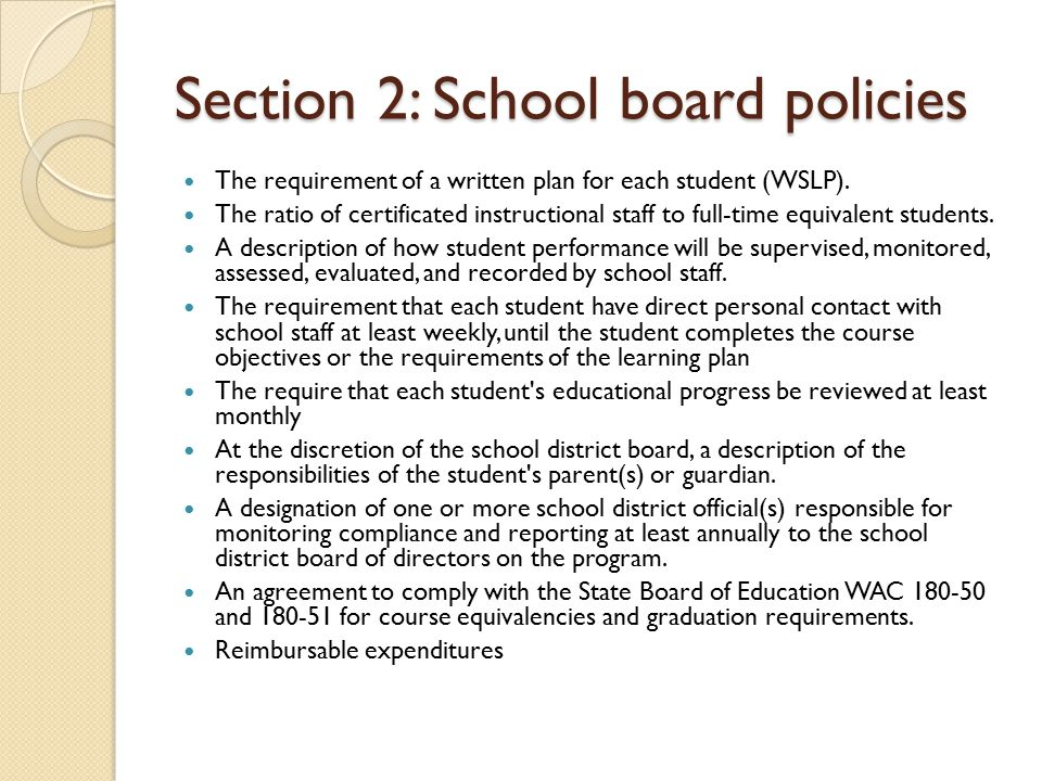 Section 3: Implementation Standards Accessibility for students with disabilities.