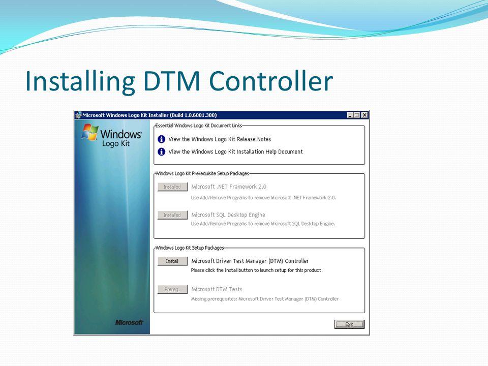 Installing DTM Controller