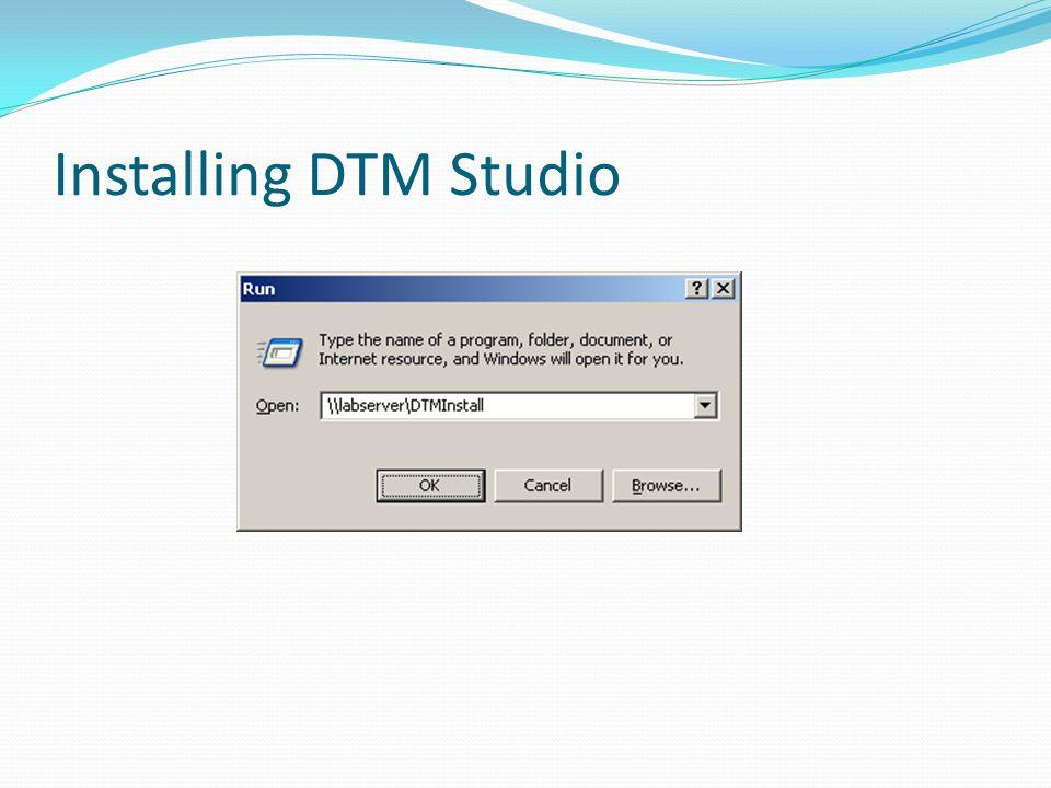 Installing DTM Studio