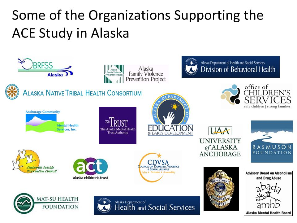 Some of the Organizations Supporting the ACE Study in Alaska
