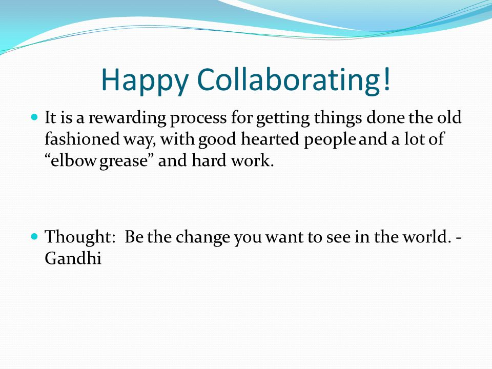 Happy Collaborating.