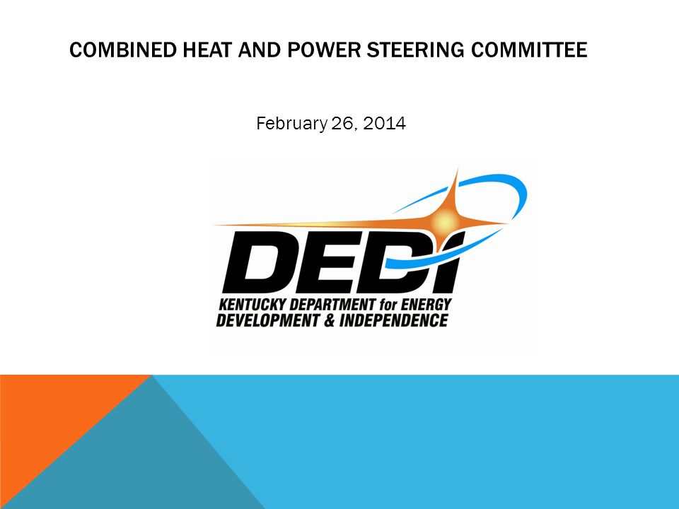 COMBINED HEAT AND POWER STEERING COMMITTEE February 26, 2014