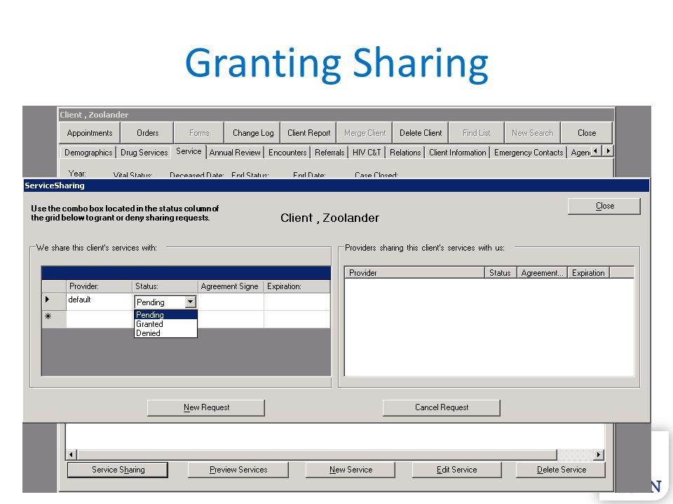 Granting Sharing