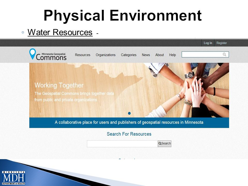 ◦ Water Resources -