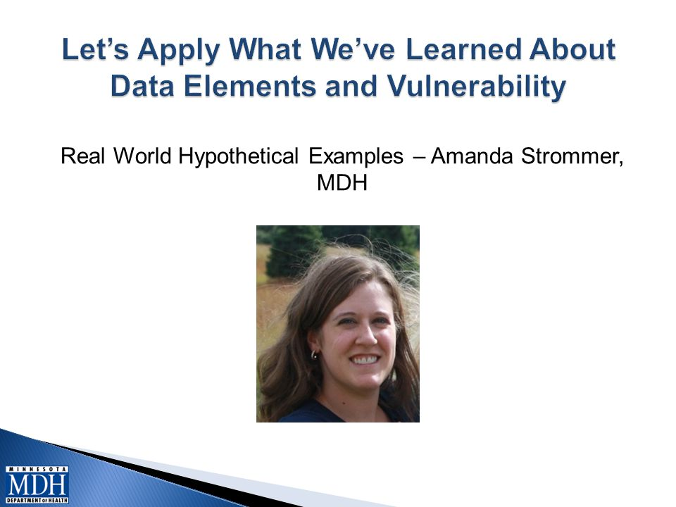 Real World Hypothetical Examples – Amanda Strommer, MDH