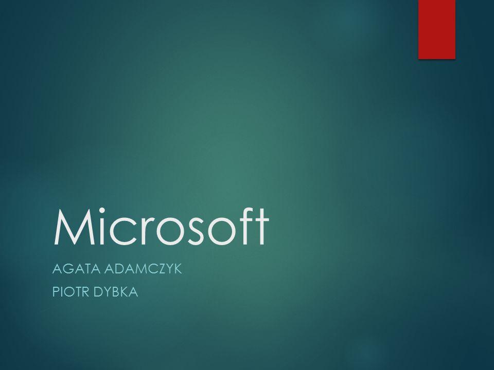 Microsoft AGATA ADAMCZYK PIOTR DYBKA