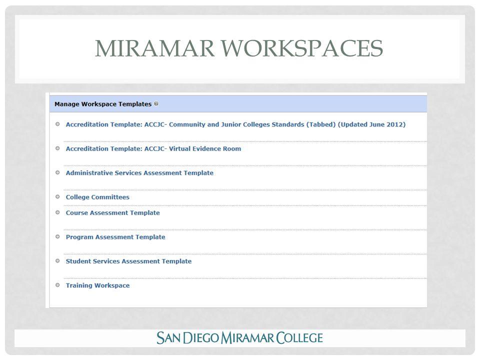 MIRAMAR WORKSPACES