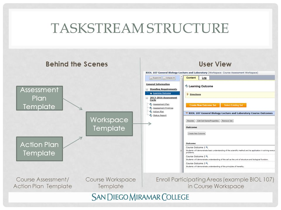 CURRICULUM MAPS Map provides program- wide visual of how courses support program outcomes