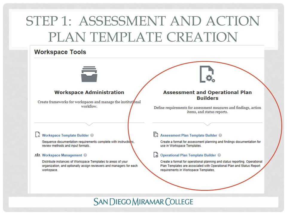 STEP 1: ASSESSMENT AND ACTION PLAN TEMPLATE CREATION