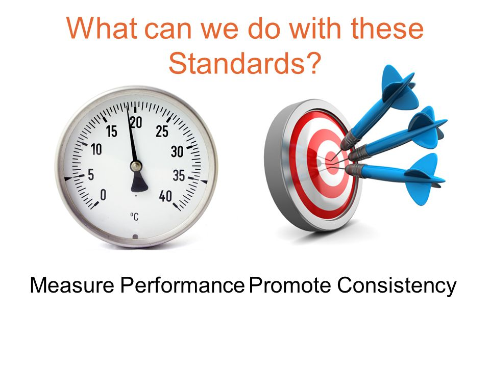 What can we do with these Standards Measure Performance Promote Consistency