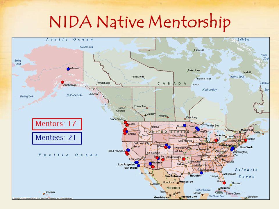 NIDA Native Mentorship Mentors: 17 Mentees: 21