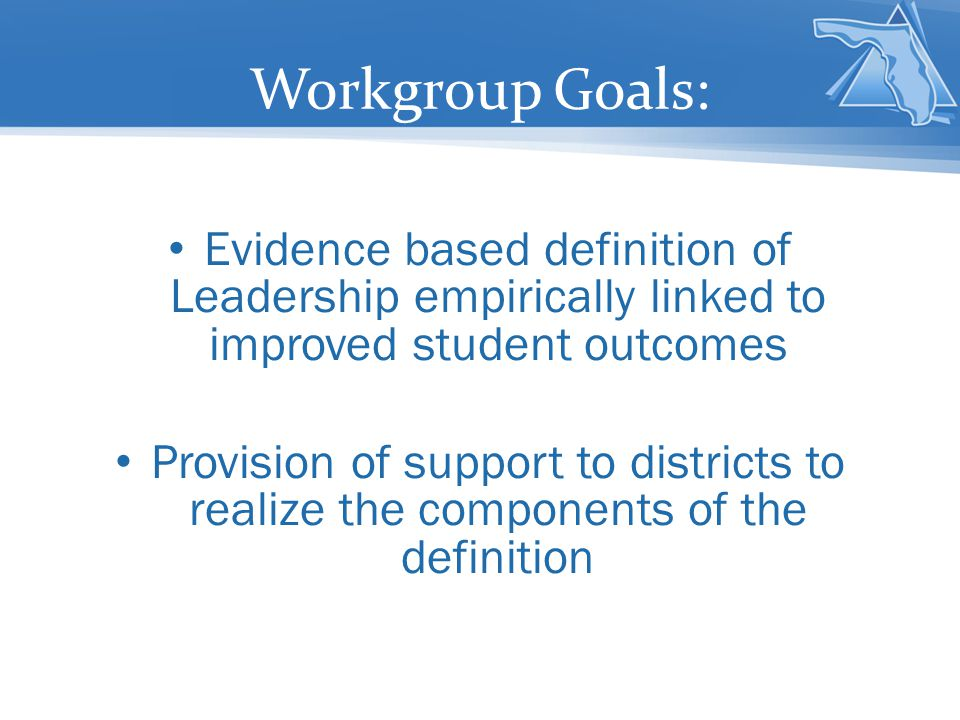 Definition: Effective district leadership is evidenced by teams or individuals who: Establish and articulate a clear vision with a sense of urgency for change, maintain focus and deliver a consistent message of implementation over time Focus on schools (districts are successful when schools are successful) Create relationships with stakeholders based upon mutual respect and shared responsibility Engage in expert problem solving Invest in professional development (Leithwood, 2010; Barnhardt, 2009; Crawford & Torgeson, 2007)