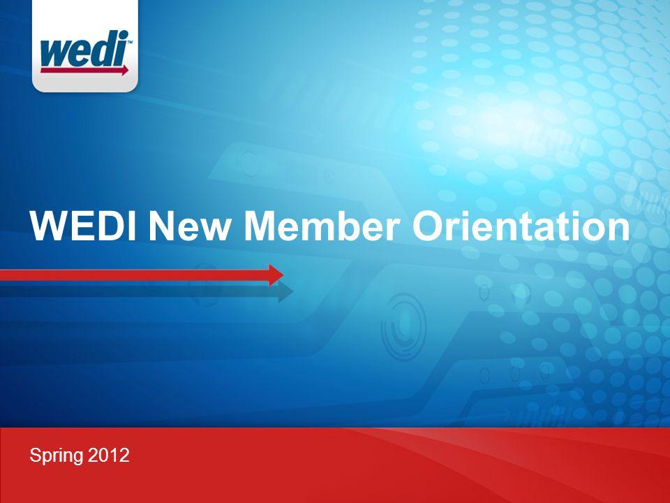 WEDI New Member Orientation Spring 2012