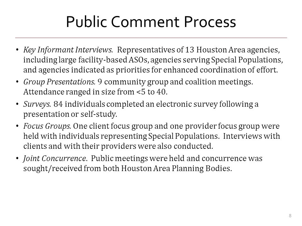 Process Evaluation- Qualitative What did you like BEST about the process.