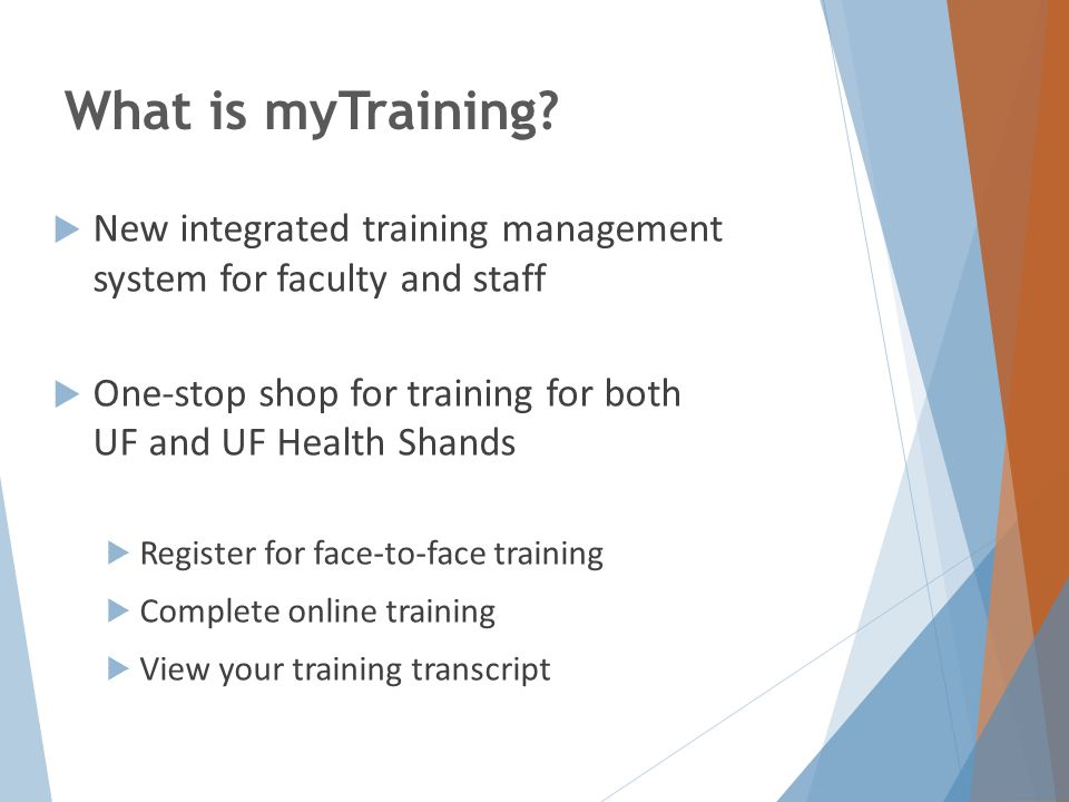 What is myTraining.