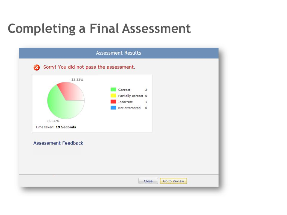 Completing a Final Assessment