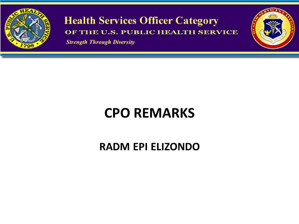 CPO REMARKS RADM EPI ELIZONDO